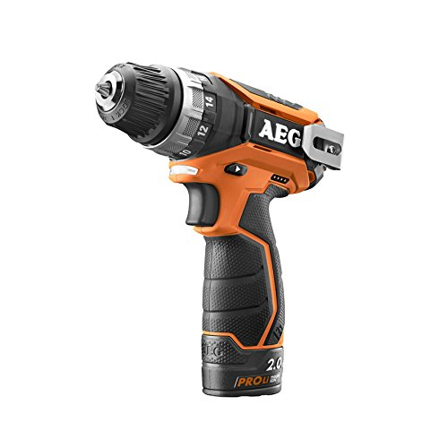 AEG 4935447867 BS 12C2 Li-202C Kompakt-Bohrschrauber, 24 W, 12 V, Schwarz, Orange