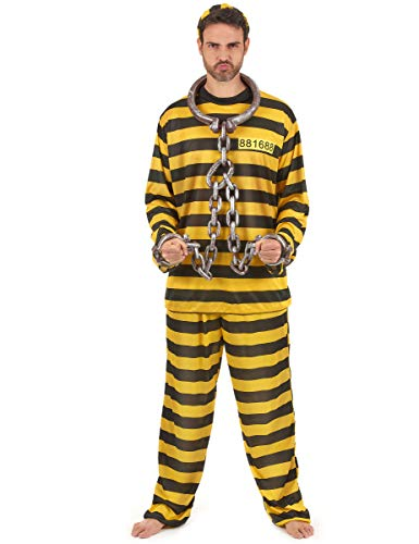 Generique Déguisement Prisonnier Jaune Adulte XL