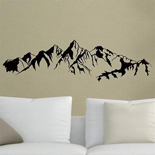 Adesivi murali paesaggi di montagna Protezione Vinile Sfondo Decorazioni per la casa Adesivo murale 37 X 130 Cm