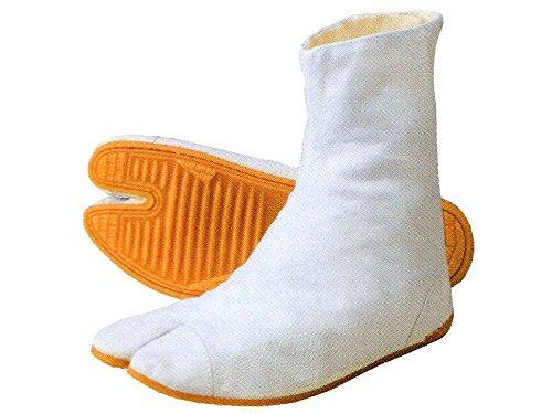 祭足袋クッション3(白/7枚コハゼ) 力王の祭り足袋 祭り地下足袋 (25.5cm)