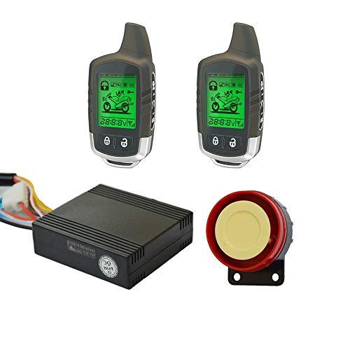 Blocco antifurto per moto Super risparmio energetico a lungo bidirezionale a distanza di inizio del motore del motociclo di sicurezza del sistema di allarme con 2 di stato LCD Indicatore Trasmettitori