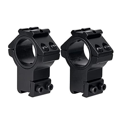 "FOCUHUNTER Hohes Profil 1"" Zielfernrohr Montage - 30mm/25.4mm Zielfernrohrmontagen Adapter Picatinny Rail (11mm)"