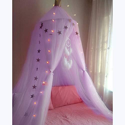 Baby Moskitonetz (Lila) Dyna-Living Bettüberdachung fit für Babybett, Kinderbett, Twin-Size-Bett