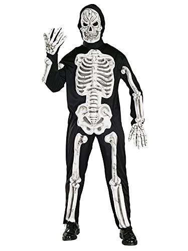 Rubie's Official Skeleton 3D Adult Halloween Costume, Mens Size Larg