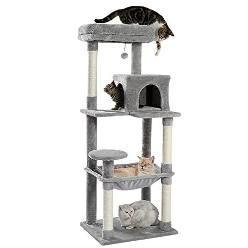 GwLh Suministros para Mascotas Perspulaciones de Peluche y condominio para los Gatitos Que envuelven plenamente Las publicaciones de sisal y Columna de Bolas Colgantes reemplazables-2