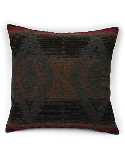 Ruth&Boaz Inka Pattern Square Decor Pillow Case Cushion Cover (B-Grey, 18\'x18\')