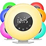 Sunrise Alarm Clock Radio, Wake up Light Digital Clock with 6 Nature Sounds & Radio