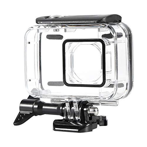 HaiQianXin Unterwasser-45m wasserdichter schützender Unterwassergehäuse-Kasten für Xiaomi Yi 2 4k Sport-Kamera (Color : Black)