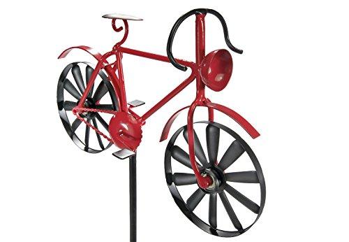 Kobolo Gartenstecker Dekostecker Windrad Fahrrad zur Gartengestaltung aus Metall