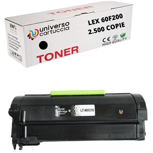 UniversoCartuccia® Toner Rebuilt. da 2.500 copie (60F2000) Per Stampanti : Lexmark MX310d - MX310dn -MX410d / MX410dn / 415dn - MX510de - MX511de / dte/dhe - MX610dw - MX611de / dte/dhe