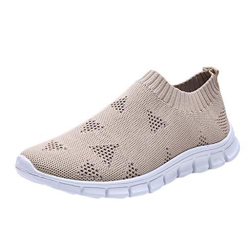 Kaister Damen Outdoor Schnürschuhe Sportschuhe Run atmungsaktive Schuhe Turnschuhe Lace up Freizeit Leichte Schuhe