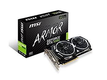 MSI Gaming GeForce GTX 1080 8GB GDDR5X SLI DirectX 12 VR Ready Graphics Card  GTX 1080 ARMOR 8G OC