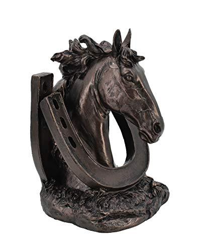 MASCARELLO Bronzestatue Sculptural Bookends, Set of Two Horses Table Top Home Skulptur Dekor Geschenke