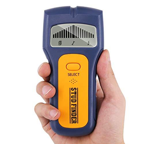 2020 Ortungsgerät, GLTECK 3 IN 1 Multifunktions Wand Scanner Detektor Stud finder Leitungssucher für Stromleitung Holz Metall mit Großer LCD Hintergrundbeleuchtung