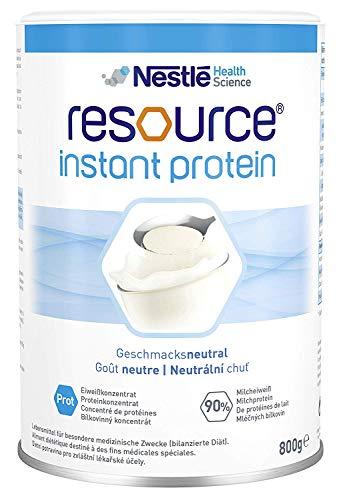 RESOURCE instant protein | geschmacksneutrales, hitzestabiles Eiweißpulver mit 90% Milcheiweiß (Casein) | 1x800 g