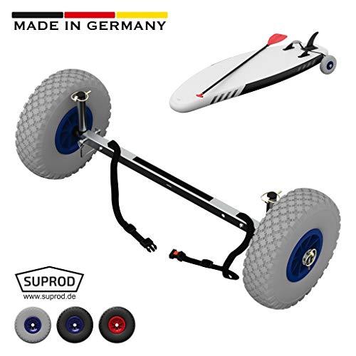 SUPROD SUP-Räder, Stand Up Paddle Board Wheels, Transport-Wagen, UP260, Edelstahl, grau/blau