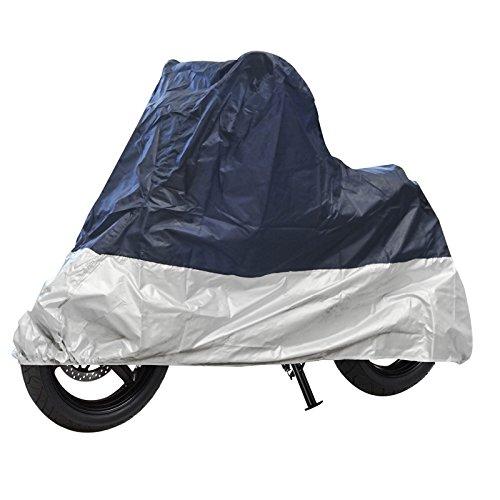 Moto Bâche de protection XL 246 X 104 x 127 cm gris/bleu double abgenäht élastique & # x1 F3cd ;