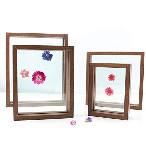 SONGHJ Doppelseitiges Glasbilderrahmen-Set Pflanze getrocknete Blume Blatt Musterrahmen Papier-Schnitt DIY-Rahmen Raumdekoration C A4 /20.1x27.9cm