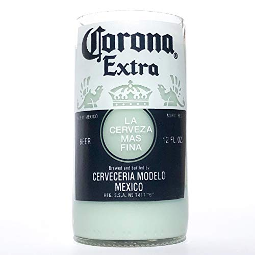 Recycled Corona Beer Bottle Candle - Mojito Lime Scent