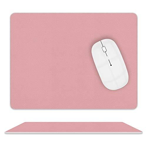 Mauspad, Office Mauspad Wasserdicht und rutschfest PU Leder Doppelseitige Mousepad für Computer geeignet, Laptop, alle Arten von Mauspads, Büro/Zuhause Rosa