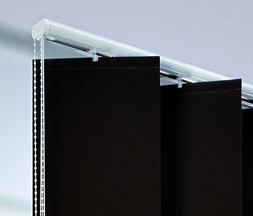 Liedeco verticale rail, lamellrail voor 25 cm XXL-lamellen | 200 cm | zilver - alleen rail - zonder lamellen
