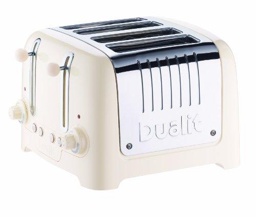 Dualit 46233 4 Scheiben Lite Toaster gloss, canvas weiß