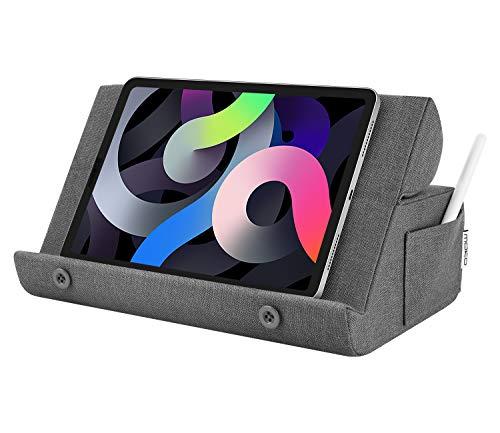 MoKo Supporto Tablet, Supporto in Spugna Compatibile con Dispositivi Fino a 12 Pollici, Accessori Tablet, Supporto per iPad Air, iPad PRO, iPad Mini, Galaxy Tab, Surface PRO, Grigio Scuro