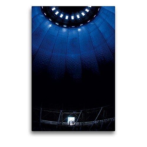 Premium Textil-Leinwand 50 x 75 cm Hoch-Format Gaskessel in Augsburg | Wandbild, HD-Bild auf Keilrahmen, Fertigbild auf hochwertigem Vlies, Leinwanddruck von Reinhold Ratzer