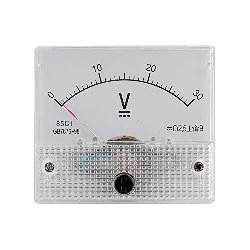Voltímetro de Corriente, DC portátil analógico 85C1 Voltaje 2.5 Precisión Voltaje Voltímetro analógico Panel, Adecuado para Uso doméstico y de Laboratorio(0-30 V)