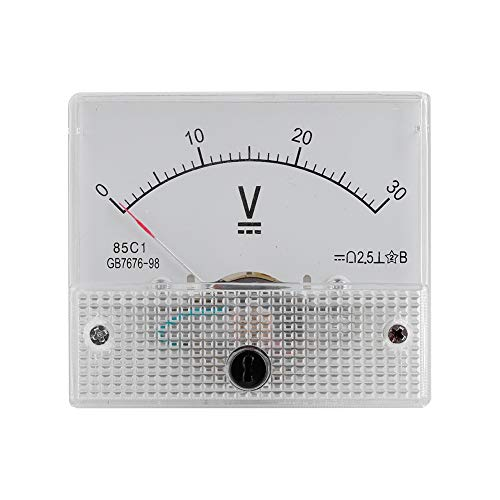 Great Price! Serounder Mini Current Analogue Ammeter Voltmeter,Professional Durable 2.5 Accuracy Vol...