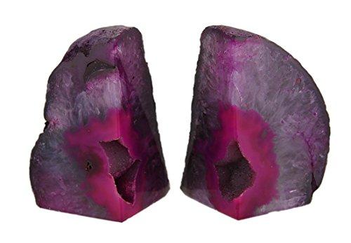 Piedra decorativa sujetalibros sujetalibros de pequeño pulido rosa geoda Ágata de Brasil ( 4libras 3x 4.25x 3pulgadas Rosa Modelo # vil91d