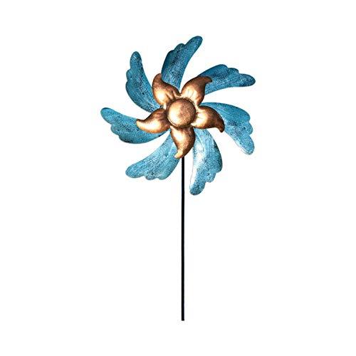 Metall Windrad Rotierender Vogel - massives Windspiel Windmühle für den Garten Wetterfest und Standfest Gartenstecker Gartendekoration Vogelwippe Wetterhahn Metall für den Garten