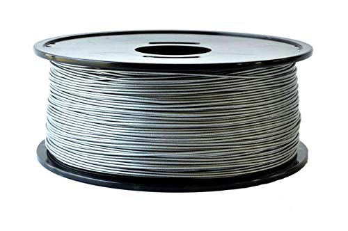 ARIANEPLAST – 3D filamento ABS ø1,75 mm – per stampante 3D – Resistente nel tempo – Certificato ROHS – Alluminio – Bobina da 1 kg – Made in France