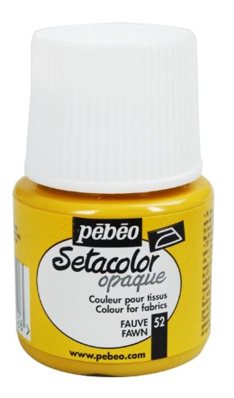 Pebeo Setacolor Opaque Fabric Paint 45-Milliliter Bottle, Fawn