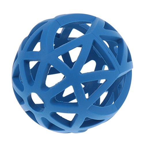 Hund Gitterball Hundespielzeug Vollgummi Spielzeug Kauspielzeug Gummiball für Hunde - Blau - M
