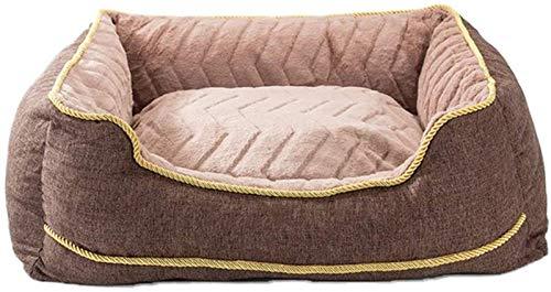 Lujo Cama para perros lavable suave de Deluxe, camas para perros para perros pequeños medianos en otoño e invierno, no solo resistente a la suciedad, sino también removible y lavable, espesado y mante