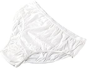 """Starly Women's Disposable 100% Pure Cotton Underwear Travel Panties Granny Briefs White/Macarons (10Pk) … (White, X-Large--Waist 36-40.5"""", Hips 44-48"""")"""