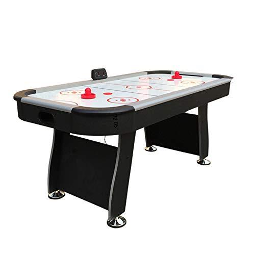 WUYANJUN Air Hockey Tabletop Spieltisch für Kinder, elektronisches Air Hockey Spiel mit leistungsstarkem Luftgebläse, 2 Paddel, elektronische Eishockeygeschenke