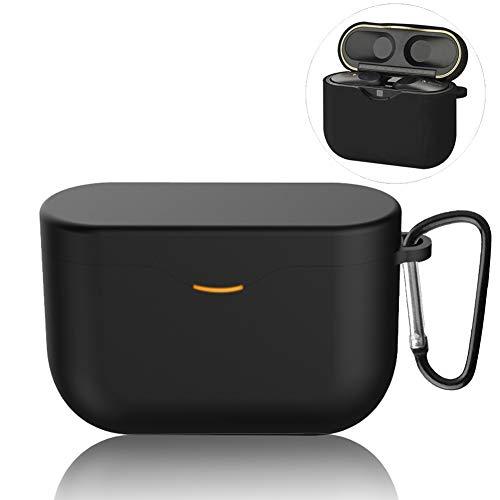 NUPO Compatible per Sony WF-1000XM3 Custodia,[LED Anteriore Visibile] [Supporta la Ricarica Wireless], in Silicone, Impermeabile, Anti-smarrimento, per WF-1000XM3 2019