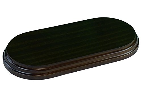 greca Peanas rectangulares ovaladas. Acabado Barniz Nogal. Varias Medidas. Madera Maciza. (27 * 13 cms)