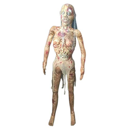 Kapokilly 2020 Zombie Halloween Decoration, Creepy Zombie Ghost Scary Bloody Body Zombie Escape Haunted House Bar Props, 2170g / 950g.