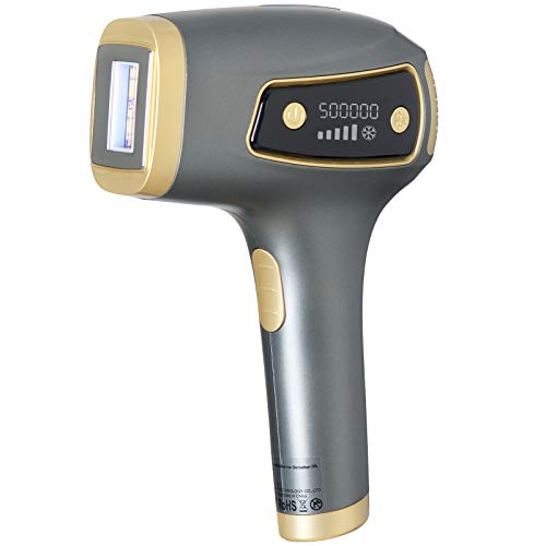 Laser Hair Removal for Women and Men, Dr. Raderm Permanent IPL Hair Removal & Painless Ice Compress Epilation - Home Use Hair Remover for Bikini line, Legs, Arms, Armpits, Face, Body