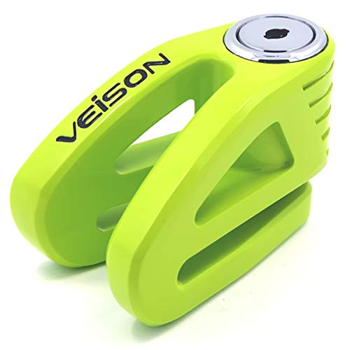 Acekit Veison Bicycle And Motorcycle Brake Disc Lock Heavy Duty Strengthen Body Sawing Resistant With Four Ribs 6mm Harden Lock Pin With Remind Cable-Green