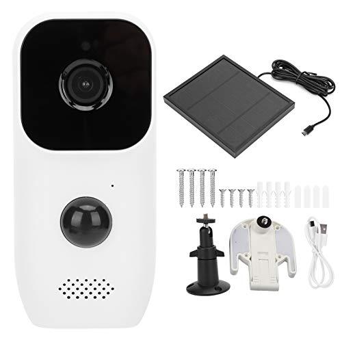 Cámara de Seguridad WiFi 1080P, cámara Solar con Mejor Efecto de monitoreo, cámara de visión Nocturna con intercomunicador bidireccional Impermeable IP65 con batería