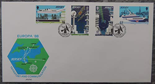 Jersey 1988 Europa transport and communication FDC