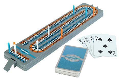 Outside Inside Backpack Cribbage Game for Camping and Travel, Lightweight and Foldable