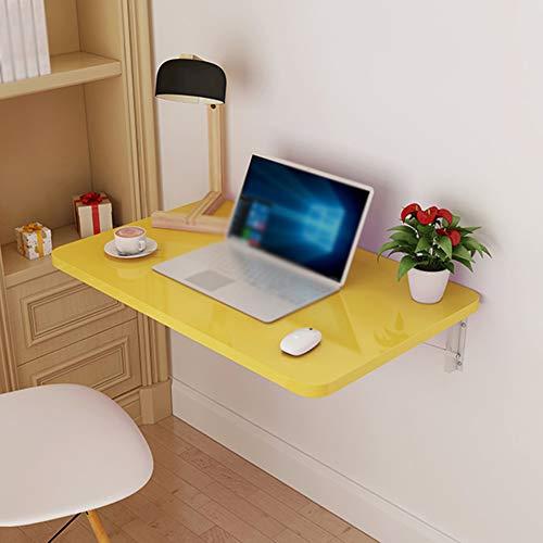 Tavolo Pieghevole a Muro Scrivania per Laptop Pieghevole Banco di Lavoro Tavolo sospeso Tavolo da Parete Tavolo Pieghevole Giallo Tavolo da Pranzo Pieghevole a Muro