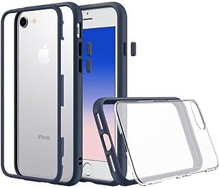 iPhone 6sプレミアムモジュラースリムケース[RhinoShield Mod] iPhone 6用衝撃吸収ヘビーデューティー保護カバー - ショックプルーフダークブルーバンパーw/クリアバック