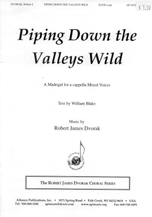 Piping Down the Valleys Wild (SSATB a cappella) (AP-1432)