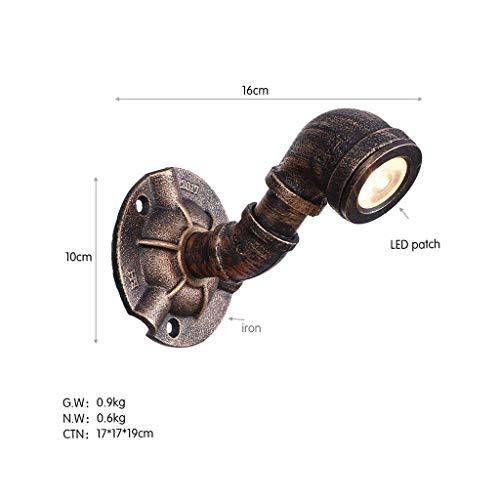 Wandlamp wandlamp glazen spiegel voorlicht vintage wandverlichting LED industriële wandlamp metaal draad accessoires Q